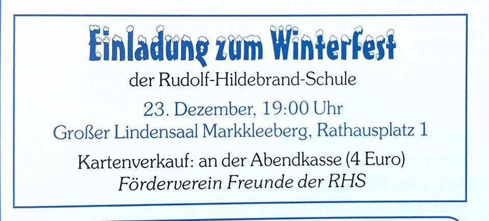 Winter-Fest statt Weihnachtsfeier